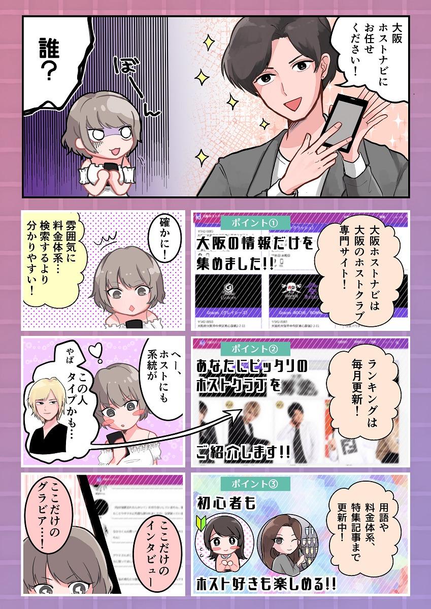 大阪ホストナビ紹介漫画❷